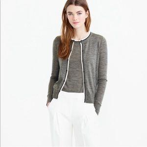 J CREW Merino Wool Grey Jackie Cardigan XS